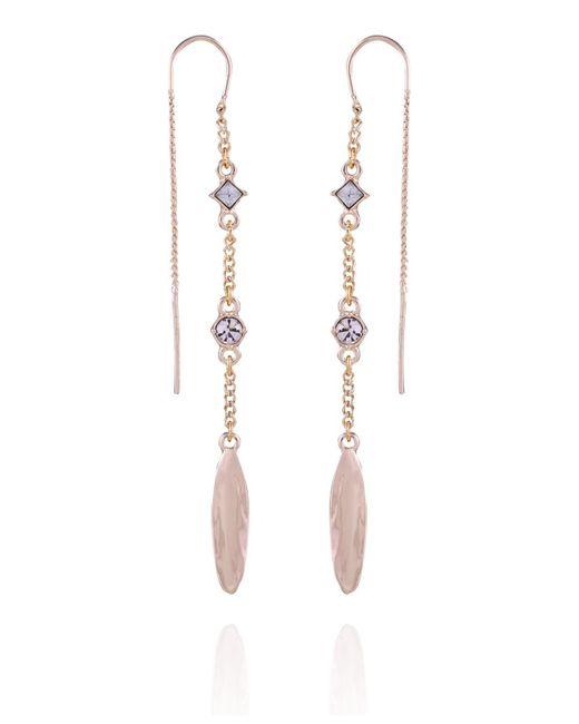 T Tahari Metallic Casual Chic Threader Earring