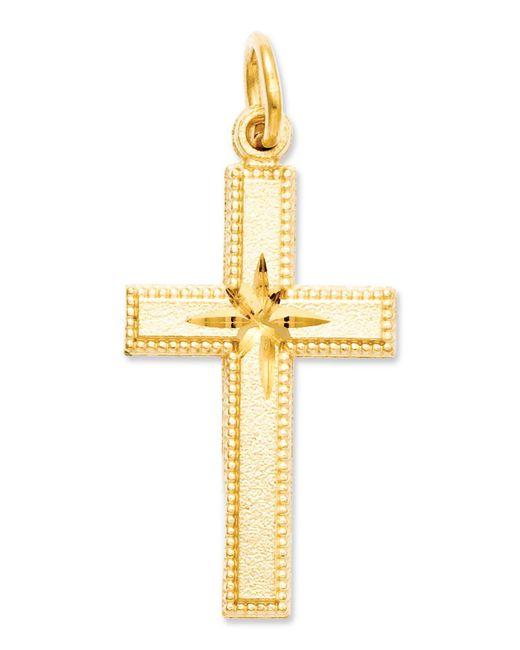 Macy's - Metallic 14k Gold Charm, Cross Charm - Lyst