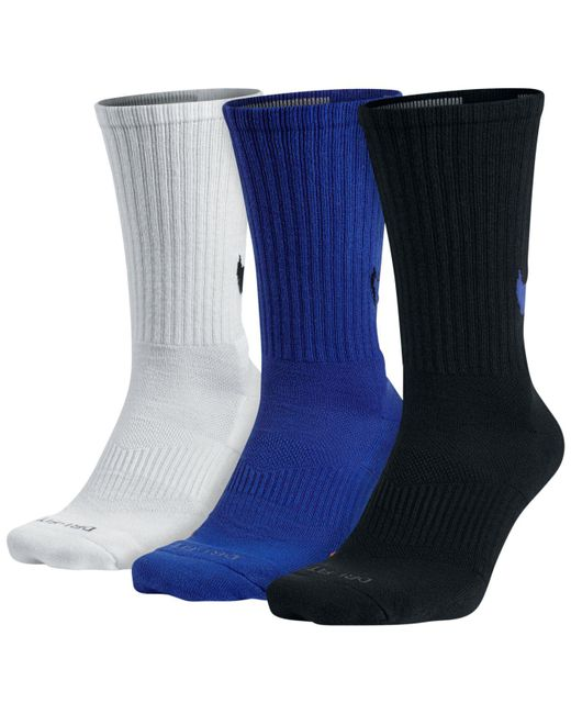 Nike - Blue Dri-fit 3-pack Hbr Crew Socks for Men - Lyst