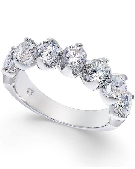Macy's - Diamond Scalloped Ring (2 Ct. T.w.) In 14k White Gold - Lyst