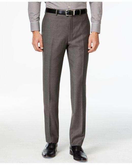 Calvin Klein Gray Pants, Modern Fit Black Pindot for men