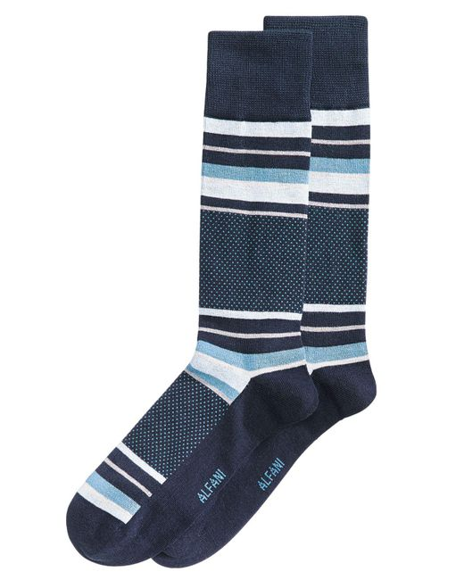 Alfani - Blue Colorblocked Dress Socks, Created For Macy's for Men - Lyst