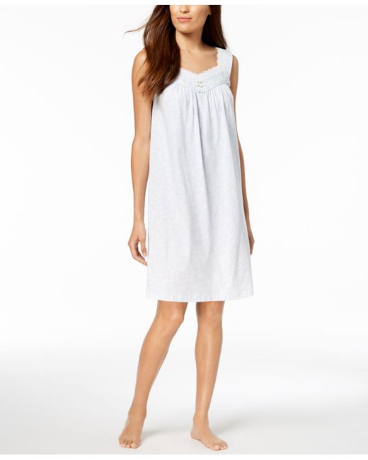 Charter Club - White Lace-trim Cotton Nightgown, Created For Macy's - Lyst