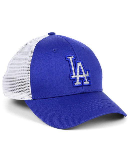 more photos 65811 adc9f ... 47 Brand - Blue Los Angeles Dodgers Branson Glitta Trucker Strapback Cap  - Lyst ...