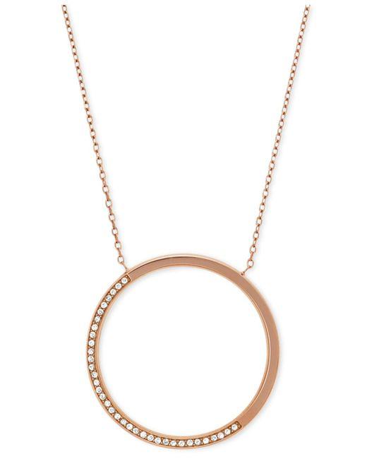 Michael Kors   Metallic Crystal Pavé Disc Pendant Necklace   Lyst