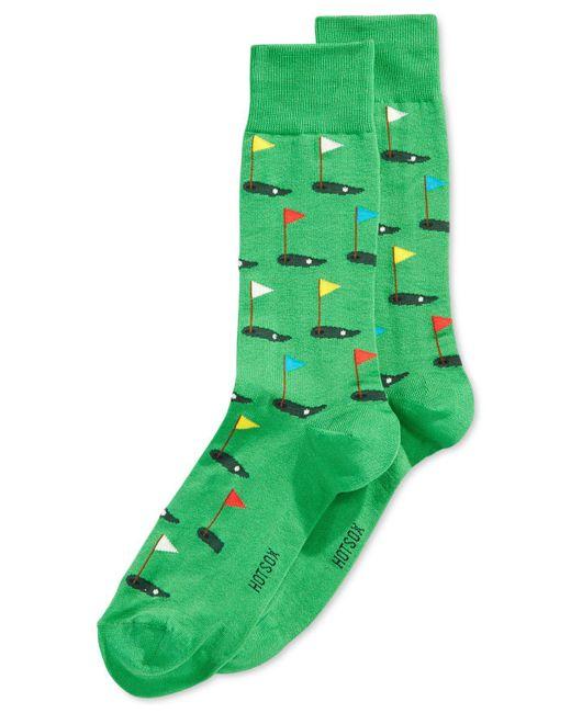 Hot Sox | Green Golf Crew Socks for Men | Lyst