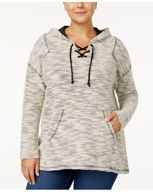 Style & Co. | Multicolor Plus Size Space-dyed Lace-up Hoodie | Lyst