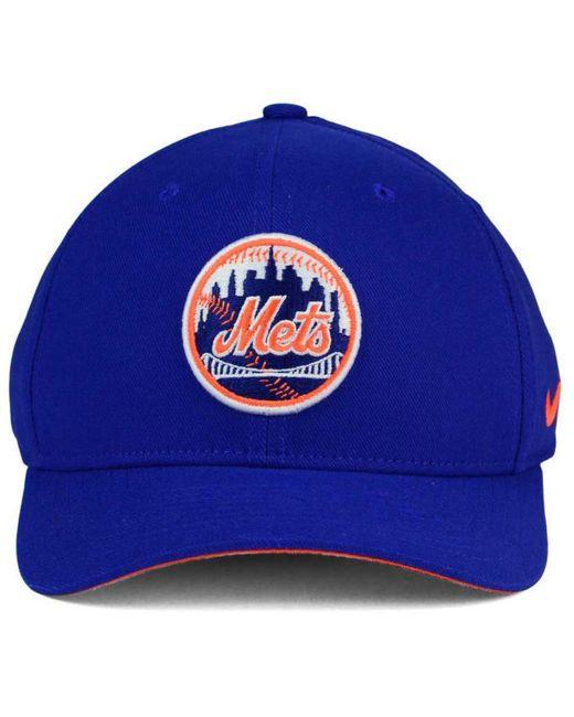 ... Nike - Blue New York Mets Ligature Swoosh Flex Cap for Men - Lyst ... 58d970a7d2bc