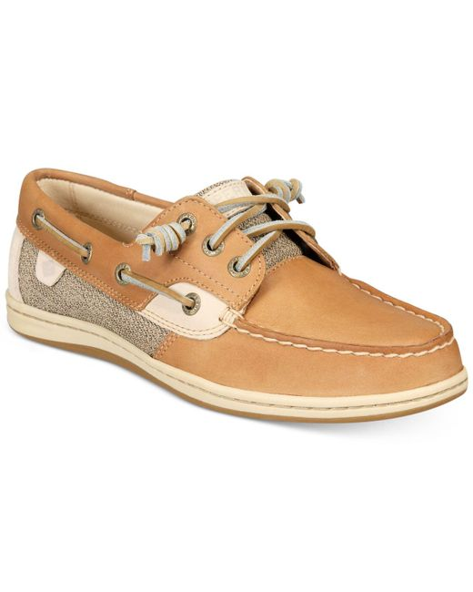 Sperry Top-Sider - Natural Women's Song Fish Boat Shoes - Lyst