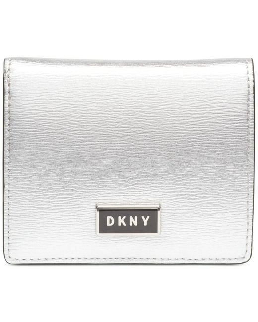 DKNY Metallic Gigi Leather Flat Wallet, Created For Macy's