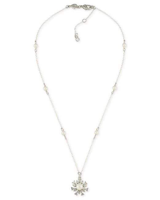 Carolee | Metallic 21 Club Faux-pearl & Crystal Pendant Necklace | Lyst