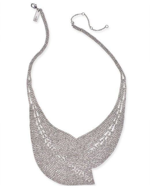 """INC International Concepts - Metallic I.n.c. Woman Silver-tone Crystal Mesh Statement Necklace, 17"""" + 3"""" Extender, Created For Macy's - Lyst"""