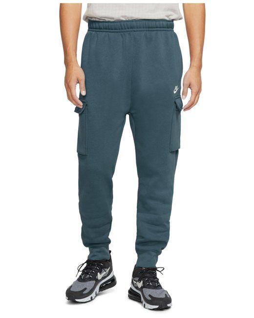 Nike Multicolor Club Fleece Cargo Joggers for men