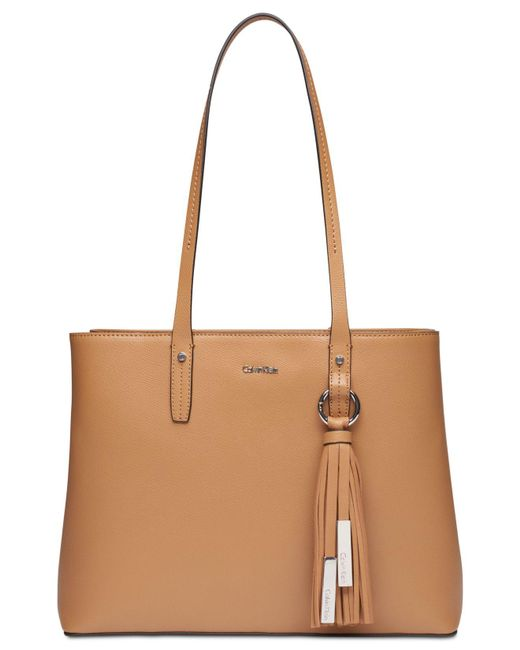 CALVIN KLEIN 205W39NYC - Brown Maggie Leather Medium Tote - Lyst