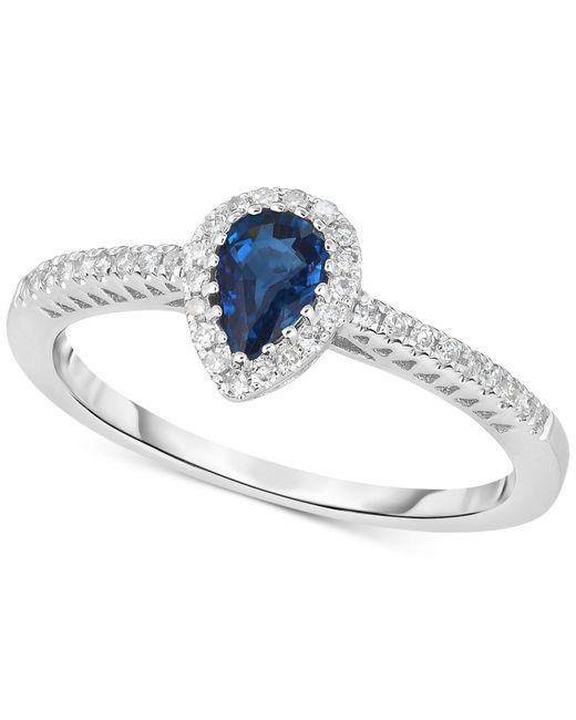 Macy's Multicolor Sapphire (3/8 Ct. T.w.) & Diamond (1/8 Ct. T.w.) Ring In 14k White Gold