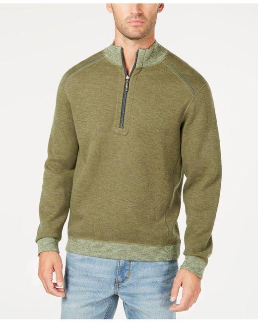 Tommy Bahama - Green Reversible Flipsider Half-zip Pima Cotton Sweatshirt for Men - Lyst