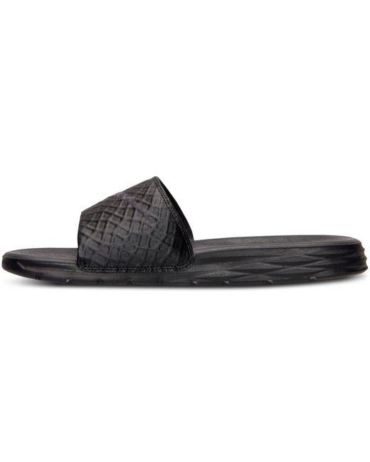 44a9cc6b95c Lyst - Nike Benassi Solarsoft Black  Anthracite in Black for Men ...
