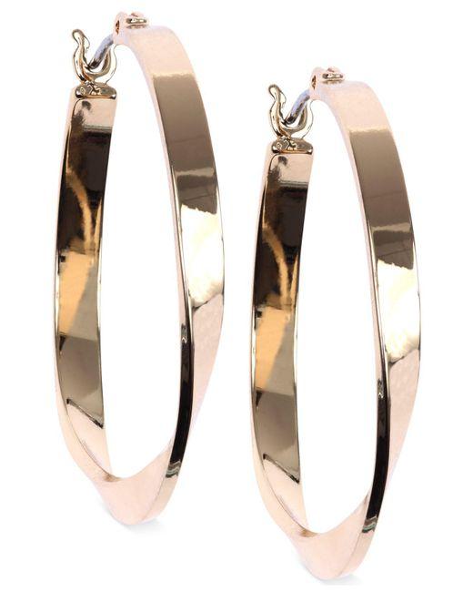 Nine West - Metallic Twisted Hoop Earrings - Lyst