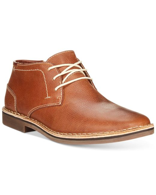 Kenneth Cole Reaction - Brown Desert Sun Leather Chukka Boots for Men - Lyst