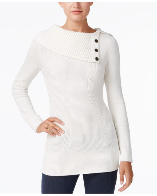 Style & Co. - White Envelope-neck Sweater, Created For Macy's - Lyst