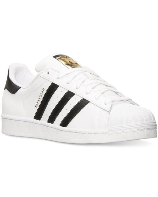 Adidas Originals | White Superstar Leather Sneakers for Men | Lyst