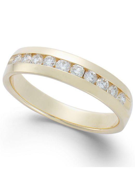 Macy's | Metallic Men's Diamond Band In 14k Gold (1/2 Ct. T.w.) for Men | Lyst
