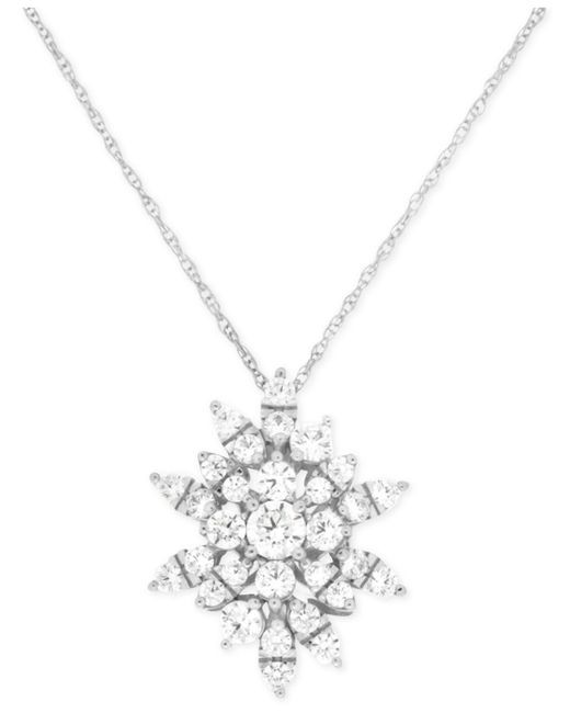 Lyst wrapped in love diamond starburst pendant necklace 1 ct wrapped in love diamond starburst pendant necklace 1 ct tw in 14k aloadofball Image collections