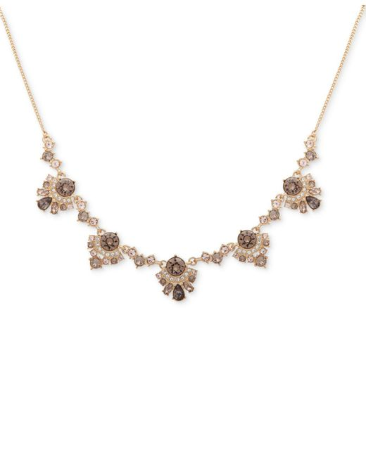 Givenchy | Metallic Multi-cluster Crystal Collar Necklace | Lyst