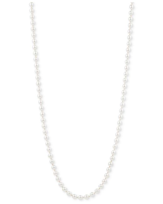 Anne Klein White Gold-tone Imitation Pearl Long Length Necklace