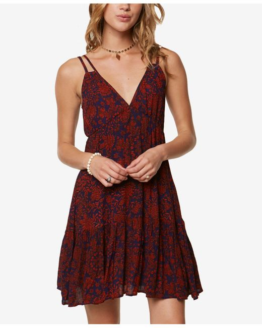 O'neill Sportswear - Multicolor Juniors' Tiered V-back Dress Cover-up - Lyst