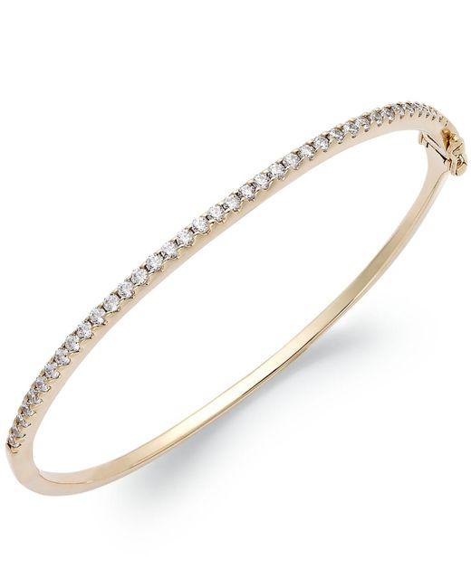 Arabella - Metallic 14k Gold Over Sterling Silver Swarovski Cubic Zirconia Bangle Bracelet (1-3/4 Ct. T.w.) - Lyst