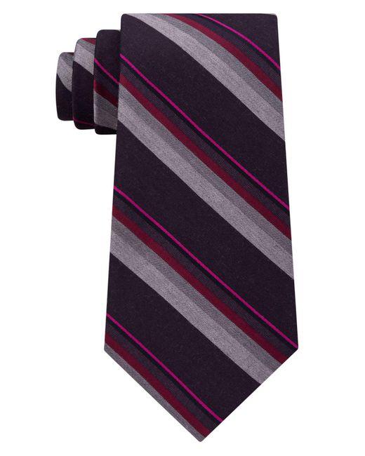 Kenneth Cole Reaction - Purple Men's Stripe Tie for Men - Lyst