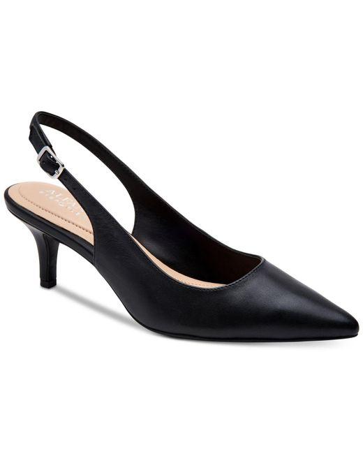 Alfani Black Step 'n Flex Babbsy Pointed-toe Slingback Pumps, Created For Macy's