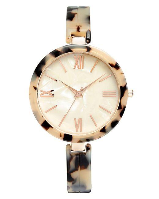 INC International Concepts Metallic Tortoise-look Bangle Bracelet Watch 40mm, Created For Macy's