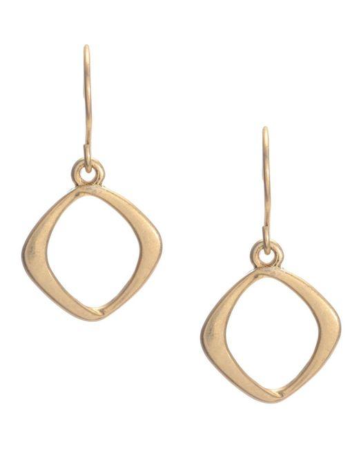 Kenneth Cole - Metallic Earrings, Gold-tone Diamond Drop - Lyst