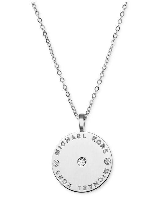 Michael Kors | Metallic Logo Necklace | Lyst