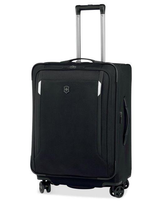 "Victorinox - Black Werks Traveler 5.0 24"" Dual Caster Spinner Suitcase for Men - Lyst"