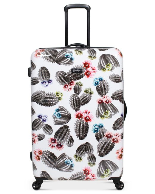 """Jessica Simpson - White Cactus Printed 29"""" Hardside Spinner Suitcase - Lyst"""