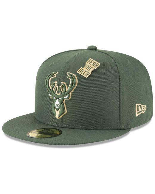 ccd3de8b027 ... KTZ - Green Milwaukee Bucks On-court Collection 59fifty Fitted Cap for  Men - Lyst ...