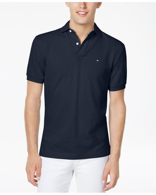 5191c48d4e6 Lyst - Tommy Hilfiger Big And Tall Solid Ivy Polo in Blue for Men ...