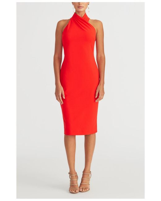 RACHEL Rachel Roy Red Halter Sheath Dress