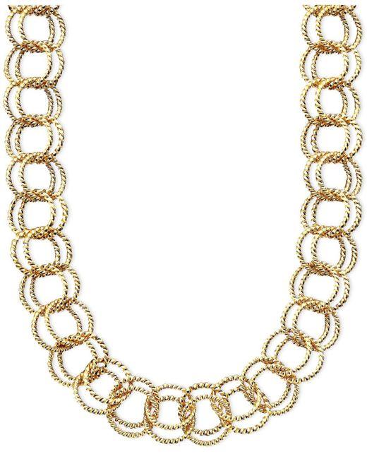 Betsey Johnson - Metallic Textured Round-link Necklace - Lyst