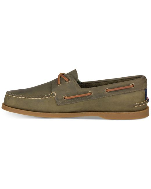 2-eye Varsity Loafers in Olive