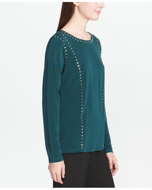 Calvin Klein - Multicolor Studded Top - Lyst