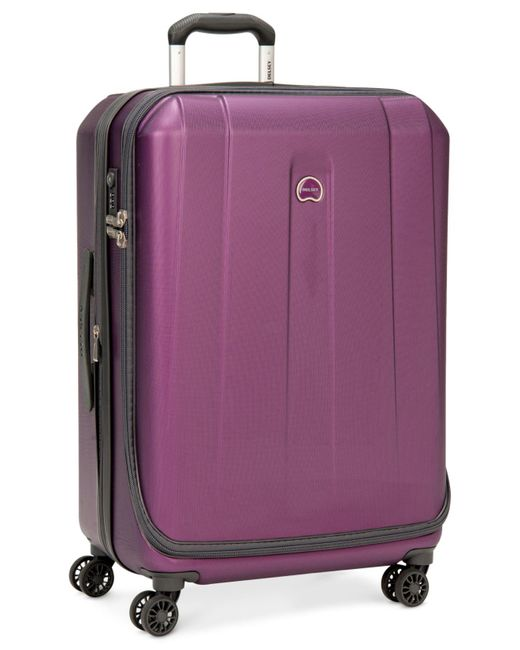 "Delsey | Purple Helium Shadow 3.0 25"" Hardside Spinner Suitcase for Men 