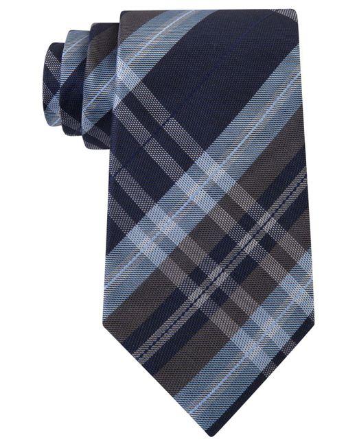 Kenneth Cole Reaction | Black Men's Plaid Classic Tie for Men | Lyst