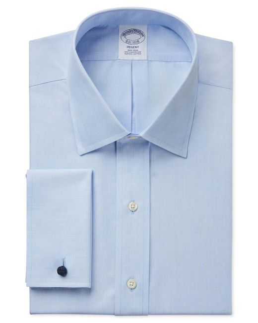 Brooks Brothers | Blue Classic Fit Non-iron Solid French Cuff Dress Shirt for Men | Lyst