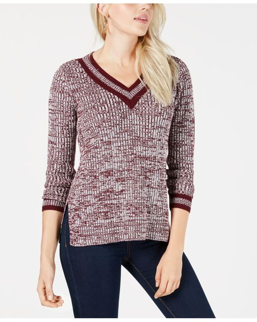 Maison Jules - Purple V-neck Sweater, Created For Macy's - Lyst