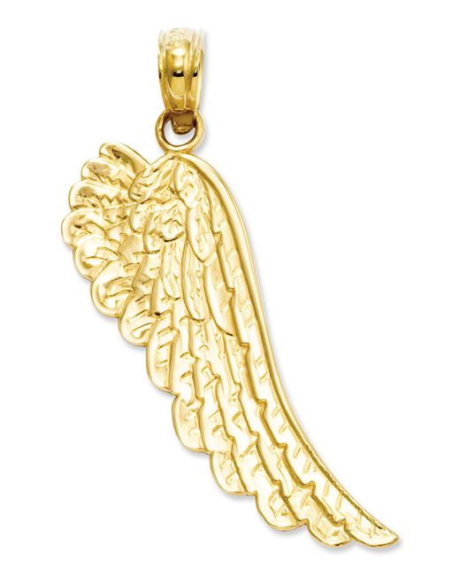 Macy's - Metallic 14k Gold Charm, Angel Wing Charm - Lyst