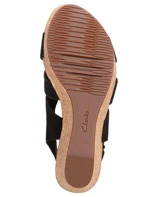 1afd56015 ... Clarks - Black Women s Annadel Bari Wedge Sandals - Lyst